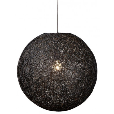 Suspension boule abaca 45 cm coloris noir collection Furthen