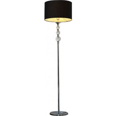Lampadaire noir design en acier chromé H. 159 cm collection Unwin