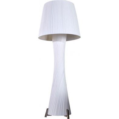 Lampadaire colonne design 190 cm coloris blanc collection Fairoak