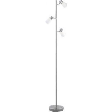 Lampadaire argenté design H. 142 cm collection Peromingo