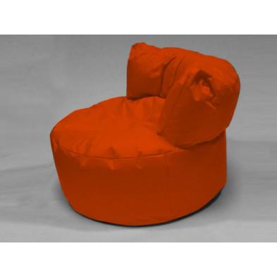 Repose-pied et pouf orange  L. 96 x P. 96 x H. 75 cm  collection Stlouis