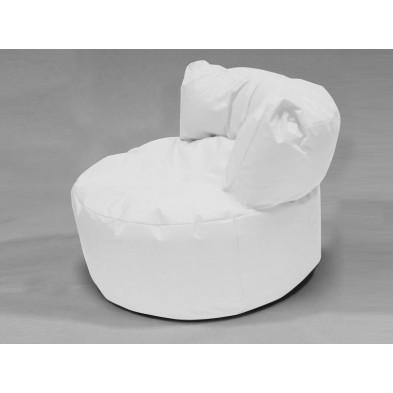 Repose-pied et pouf blanc   L. 96 x P. 96 x H. 75 cm collection Stlouis