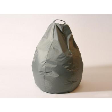 Repose-pied et pouf gris design L. 80 x P. 80 x H. 96 cm collection Spineda
