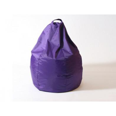 Repose-pied et pouf violet design L. 80 x P. 80 x H. 96 cm collection Spineda