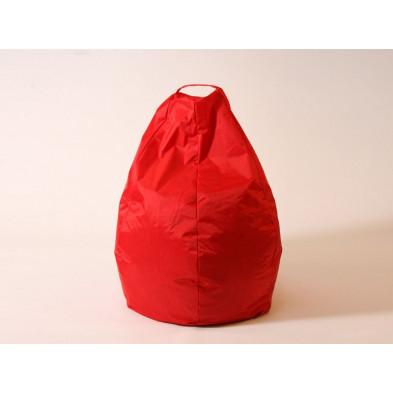 Repose-pied et pouf rouge design L. 80 x P. 80 x H. 96 cm  collection Spineda