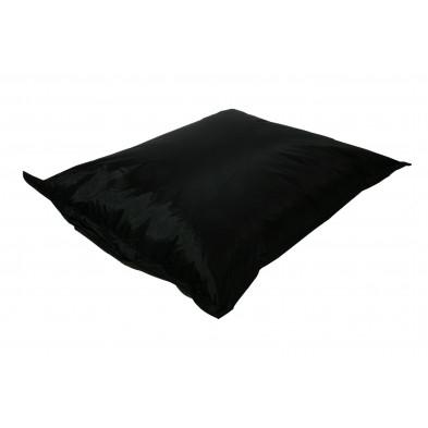 Pouf et coussin relax noir moderne  L. 150 x P. 150 x H. 30 cm  collection Maarten