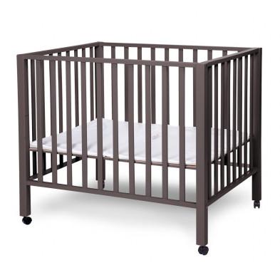 Parc bébé moderne gris en bois massif hêtre et bois MDF 75x95cm Collection Saltwood