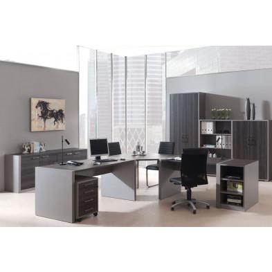 Ensemble de bureau gris moderne en cm de largeur collection Kager