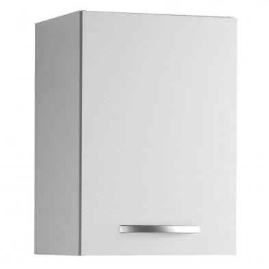 Meubles haut moderne blanc en panneaux de particules mélaminés de haute qualité L. 40 x P. 35 x H. 57 cm Collection Janco