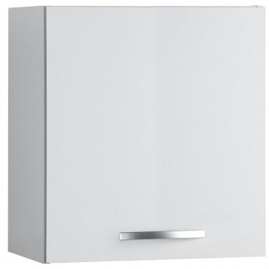 Meubles haut moderne blanc en panneaux de particules mélaminés de haute qualité L. 60 x P. 35 x H. 57 cm Collection Janco