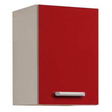 Meubles haut moderne rouge en panneaux de particules mélaminés de haute qualité L. 40 x P. 36 x H. 58 cm Collection Avonwick