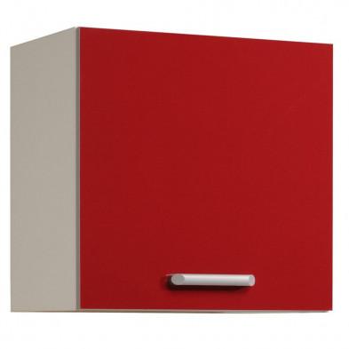 Meubles haut moderne rouge en panneaux de particules mélaminés de haute qualité L. 60 x P. 36 x H. 58 cm Collection Avonwick