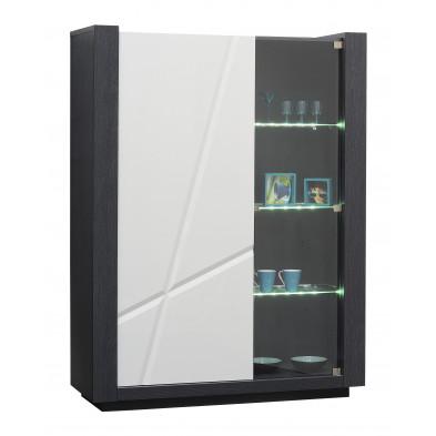 Argentier - vaisselier - vitrine blanc design L. 130 x P. 45 x H. 170 cm collection Loof