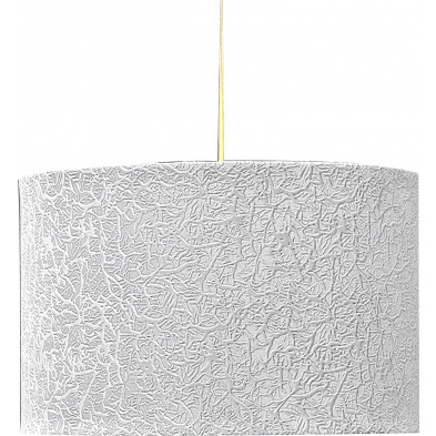 Lampe suspension design 30 cm  blanc  collection Ouabila