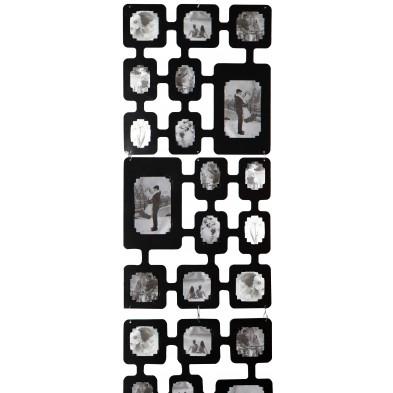 Cadre photos moderne noir en plastique L. 40 x P. 0 x H. 165 cm Collection Jak