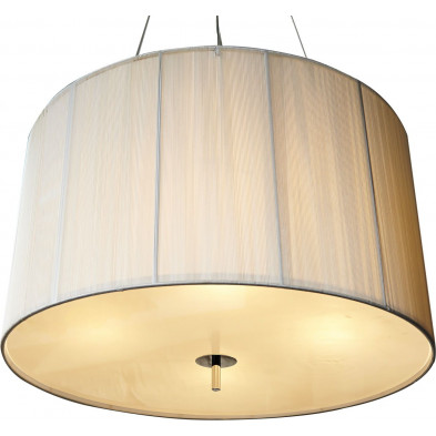 Lampe suspension 60 cm design cosy coloris blanc collection Coldeast