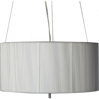 Lampe suspension 50 cm design cosy coloris blanc collection Numanalido