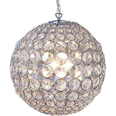Lampe suspension boule ultra design en verre 3 lumières transparent collection Announce