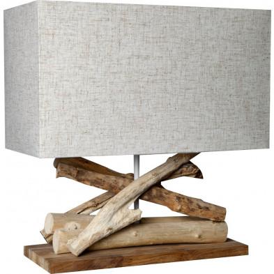 Lampe à poser bois flotté L. 35 x P. 15 x H. 40 cm collection Achnacarnin