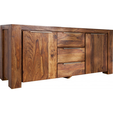 Buffet contemporain en bois coloris naturel L. 180 x H. 80 cm collection Sales
