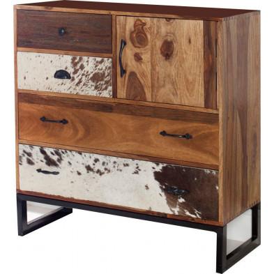 Commode moderne en bois coloris naturel P. 40 x H. 90 cm collection Lumpy