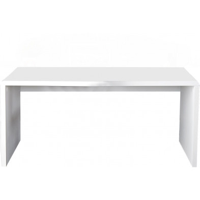 Bureau design en mdf coloris blanc laqué L. 120 x H. 75 cm collection Roughley
