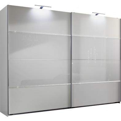 Armoire adulte blanc design L. 180 x P. 65 x H. 210 cm collection Cefnypant