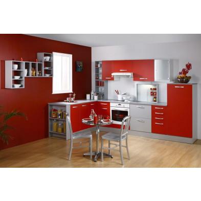 Cuisine équipée moderne coloris rouge et gris en panneaux de particules de haute qualité Collection Goodwill