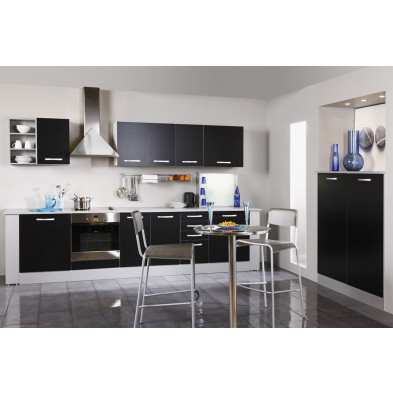 Cuisine complète moderne coloris noir et gris en panneaux de particules de haute qualité Collection Southtown