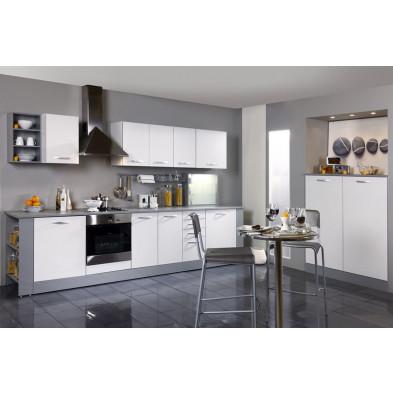 Cuisine complète moderne coloris blanc en panneaux de particules de haute qualité Collection Janco