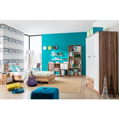 Chambre enfant complète blanc moderne en bois massif collection Schauenstein