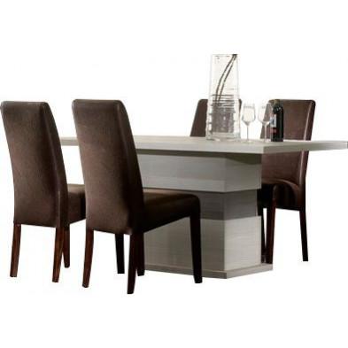 Ensembles tables & chaises marron design collection Jildou
