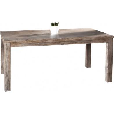 Table à manger extensible de 260 cm en bois massif d'acacia collection Gina