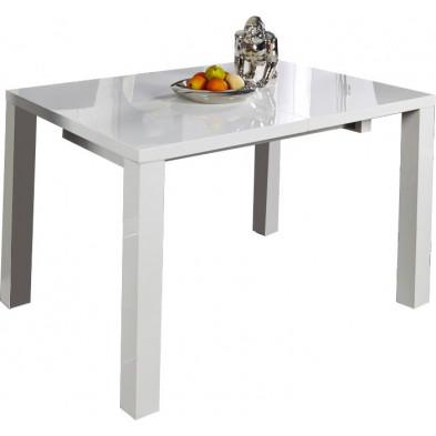 Table à manger blanche extensible design 200 cm collection Moosic