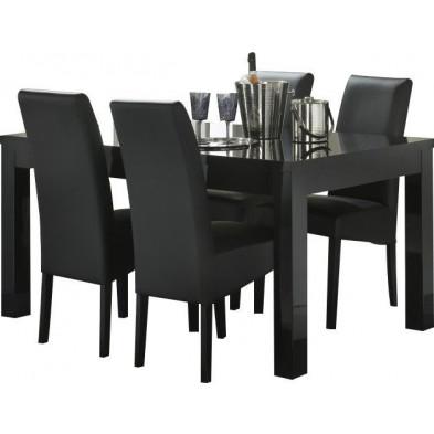 Ensembles tables & chaises noir design collection Harkema