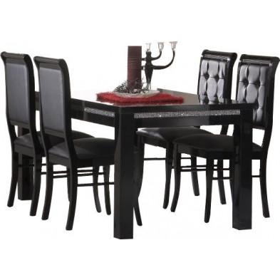 Ensembles tables & chaises noir design collection Hielke