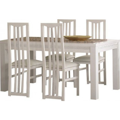 Ensembles tables & chaises blanc design collection Papanice