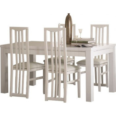 Ensembles tables & chaises blanc design collection Check