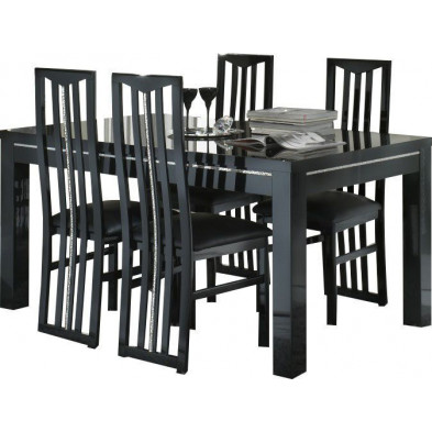 Ensembles tables & chaises noir design collection Check