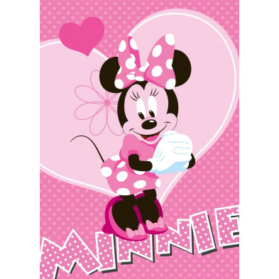 Tapis enfant 95x133cm design Minnie Mouse   collection Mybster