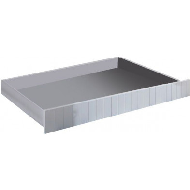 Tiroir-lit moderne blanc en bois MDF L. 195 x P. 93 x H. 17 cm  Collection Clear