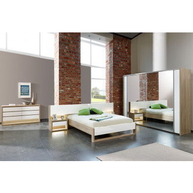 Chambre adulte complète blanc moderne en collection Youngstown