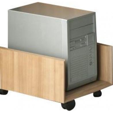 Accessoires de bureaux marron contemporain en panneaux de particules mélaminés de haute qualité L. 30 x P. 60 x H. 25 cm collection Uersfeld