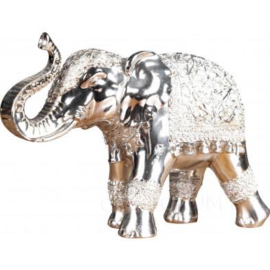 Déco design Éléphant argenté L. 11 x P. 29 x H. 19 cm collection Buining