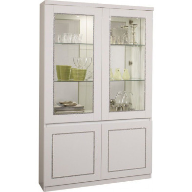 Vitrine blanc design L. 115 x P. 40 x H. 191 cm collection Vanzoeren