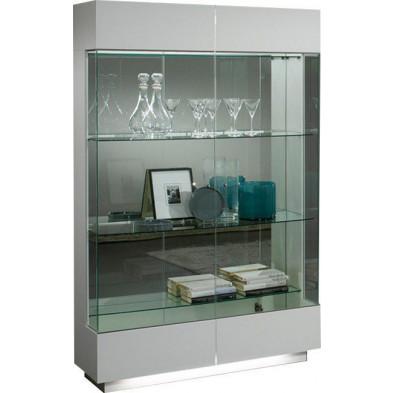 Argentier - vaisselier - vitrine blanc design L. 110 x P. 42 x H. 180 cm collection Endurable