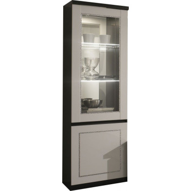 Vitrine noir design L. 58 x P. 40 x H. 191 cm collection Liedeke
