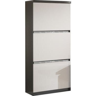 Argentier - meuble bar noir design en panneaux de particules de haute qualité L. 65 x P. 40 x H. 154 cm collection Kentwood