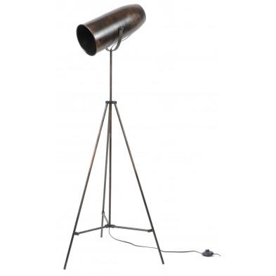 Lampadaire argenté design en acier  L. 55 x P. 55 x H. 140 cm collection Denia