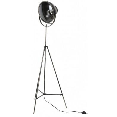 Lampadaire argenté design en acier  L. 62 x P. 62 x H. 155 cm  collection Moneta